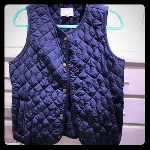 Caslon Navy Quilted Vest
